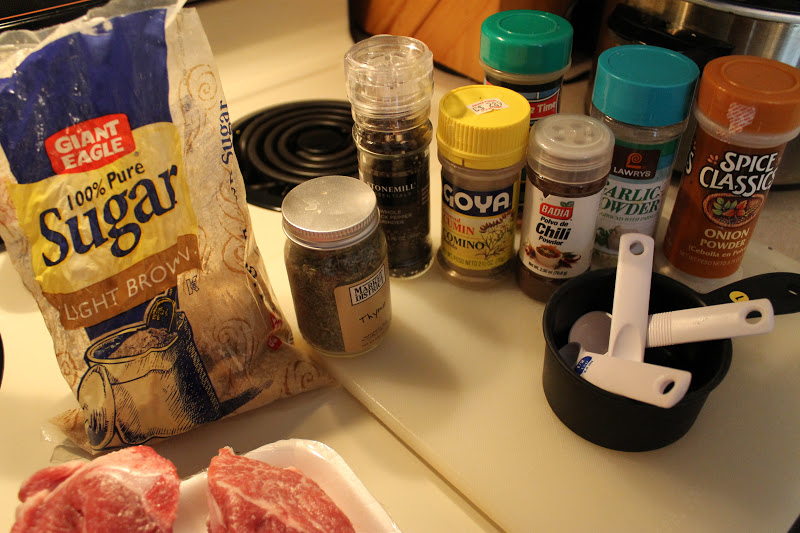 Ingredients for country style ribs recipe