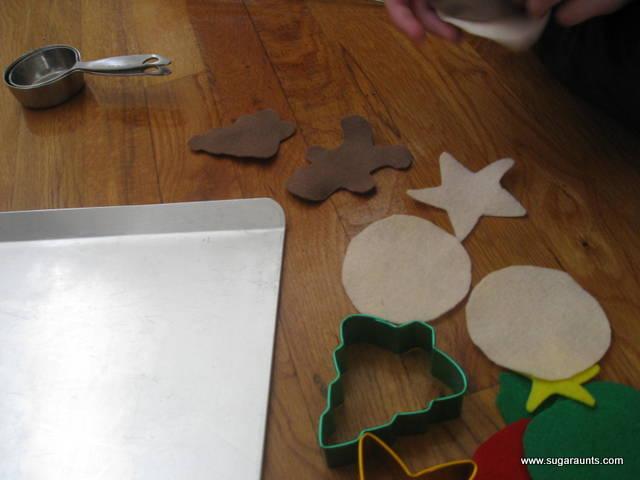 Christmas Cookie Pretend Play No Sew Felt Food. By Sugar Aunts