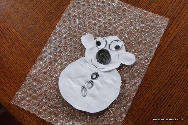 Cute polar bear craft