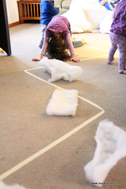 Polar bear gross motor activity for therapy at home or in a clinic.