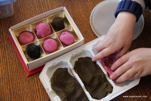 This valentine's day activity for kids is a powerful fine motor play dough idea that works on skills like hand strength.