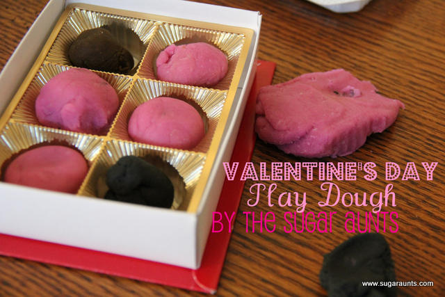Valentine's Day Play dough activity for kids