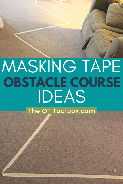 indoor obstacle course ideas with masking tape obstacle course