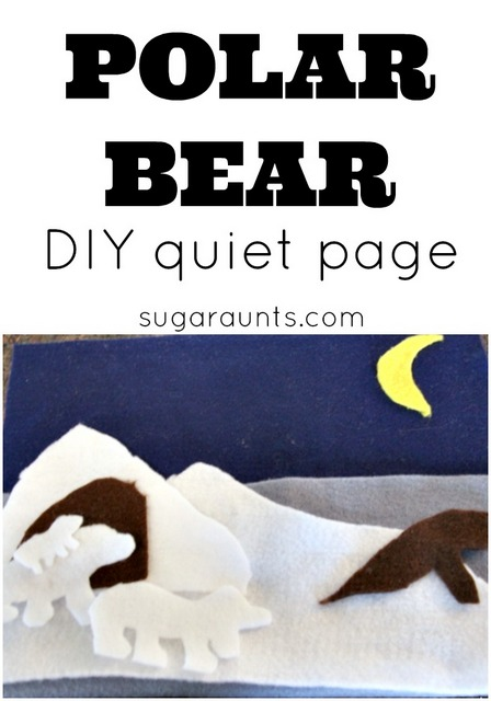 polar bear quiet page for imagination and pretend play with felt