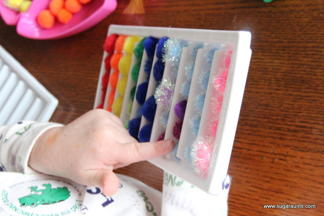 Rainbow sort color learning activity for kids