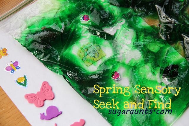 Spring sensory fine motor activity