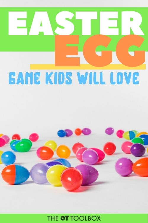 Easter egg game that kids will love while working on color matching, color identification, visual perception.