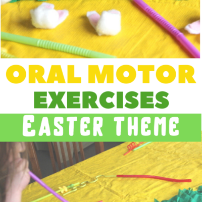 Oral Motor Exercise with a Cotton Ball Bunny