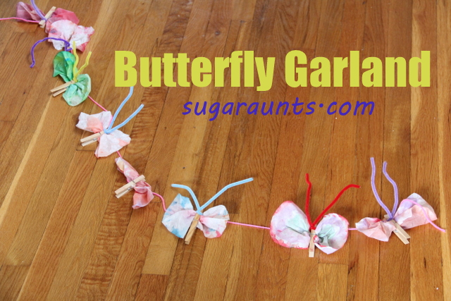 Butterfly coffee filter craft