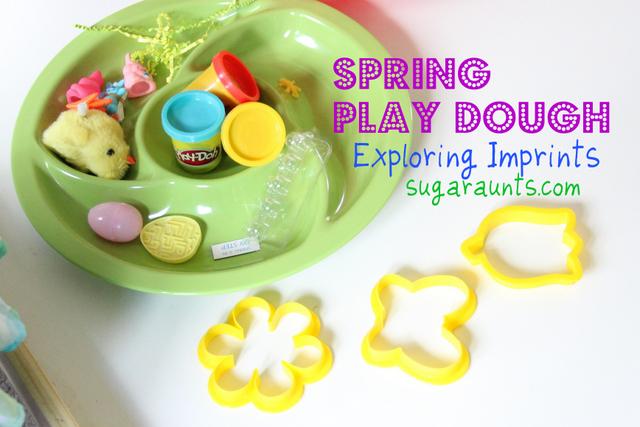 Spring fine motor play dough activity