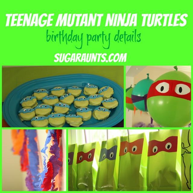 Teenage Mutant Ninja Turtle birthday party details