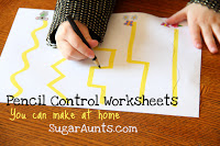 Make your own pencil control worksheets.