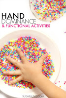Improve hand dominance using fine motor activities.