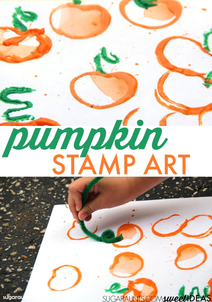 Pumpkin stamp craft