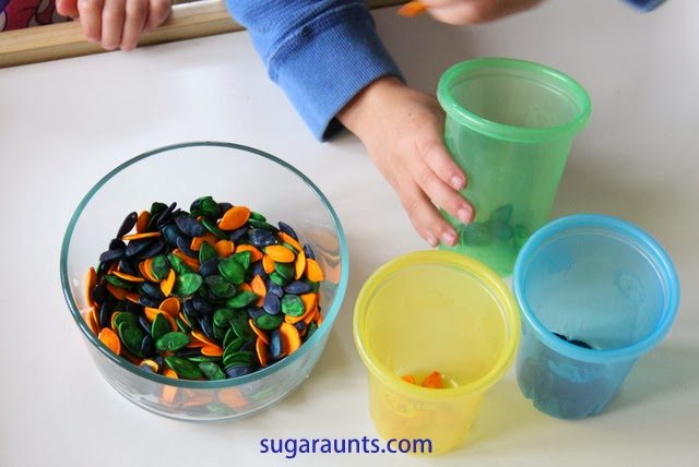 Color Sorting with Dyed Pumpkin Seeds