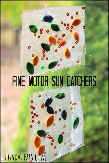 Fine Motor Sun Catchers