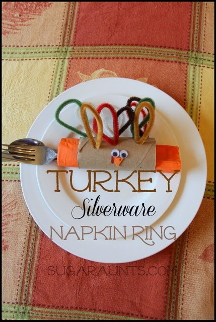 Thanksgiving Turkey Silverware Napkin Rings