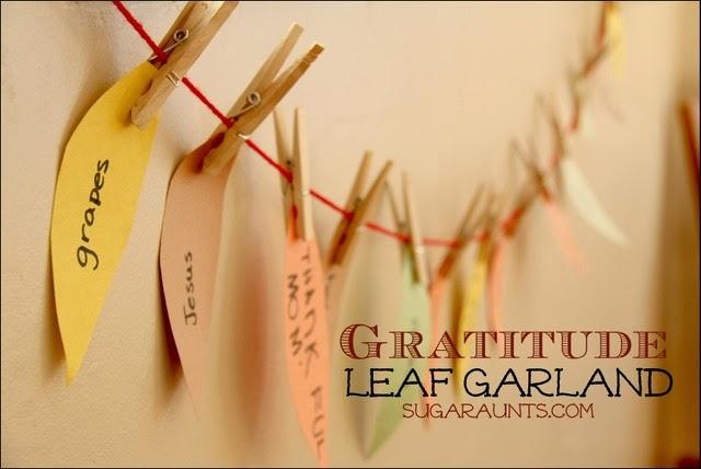 Gratitude Leaf Garland for Thanksgiving by Sugar Aunts