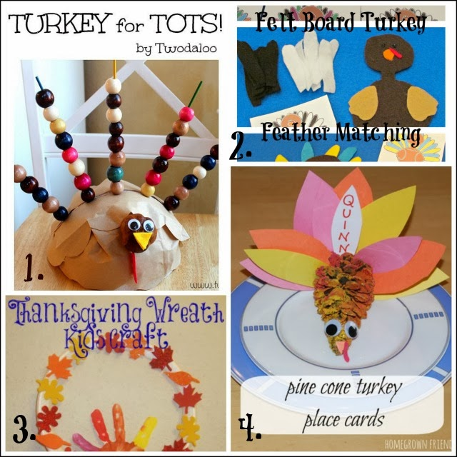Turkey activities that help kids develop motor skills. Use these for the Thanksgiving kids table crafts.