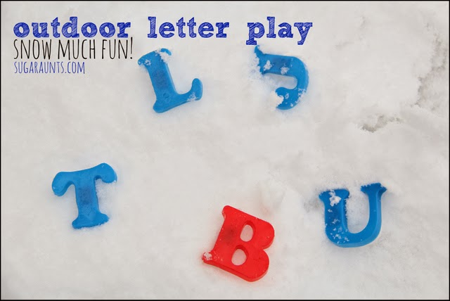 Winter Letter Play Activity with Snow