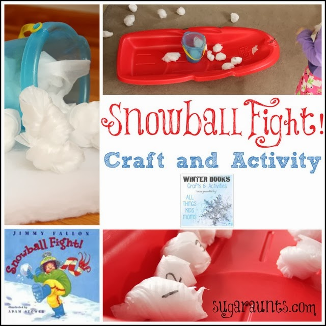 Snowball Figth Craft and Math Activity