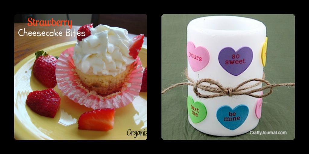 Valentine Candle, Strawberry Cheesecake Bites