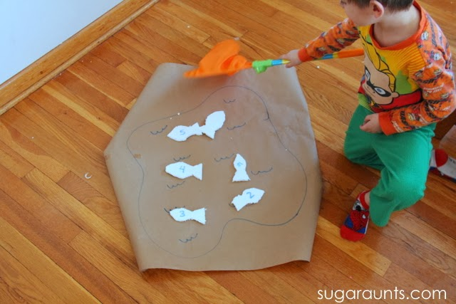 fish learning activities for math, sight words, numbers, or letter identification.
