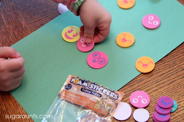 Kids can work on color awareness with colored stickers in this visual motor activity.