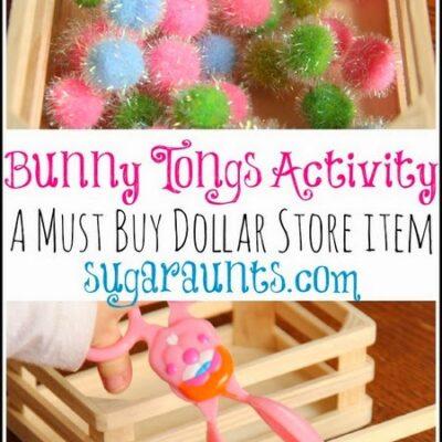 Bunny Tongs Scissor Skills Activity