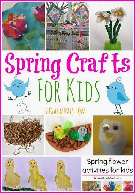 Lots of crafts for kids to make this Spring