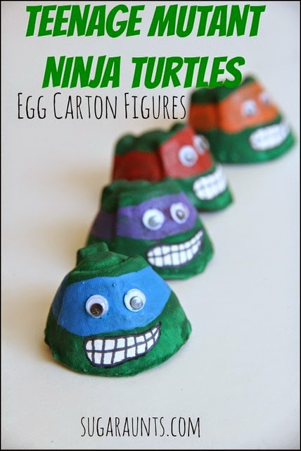 Teenage mutant ninja turtle recycled craft