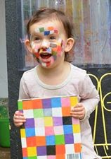 Elmer the Elephant activity with facepaint