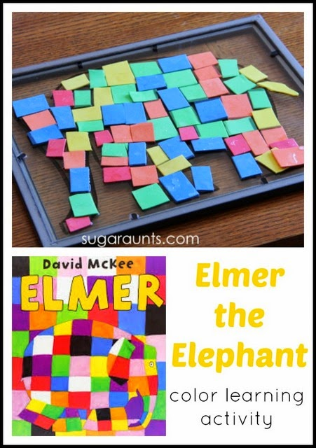 Elmer the Elephant book and Elmer activity for kids