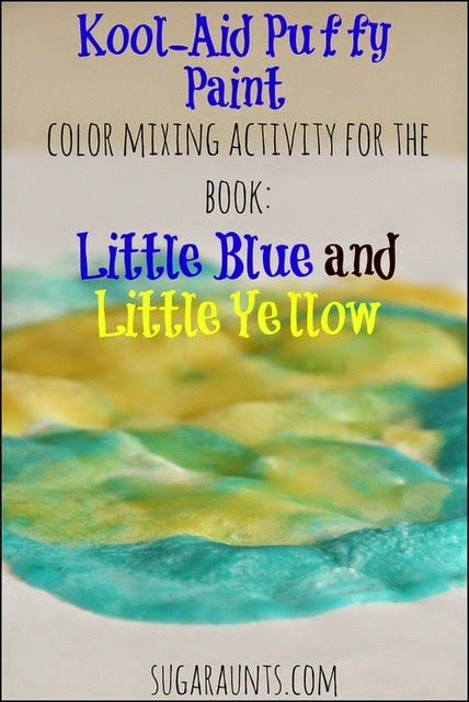 Little Blue and Little Yellow color mixing activity