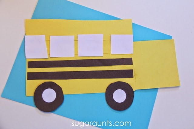 Easy shapes school bus craft