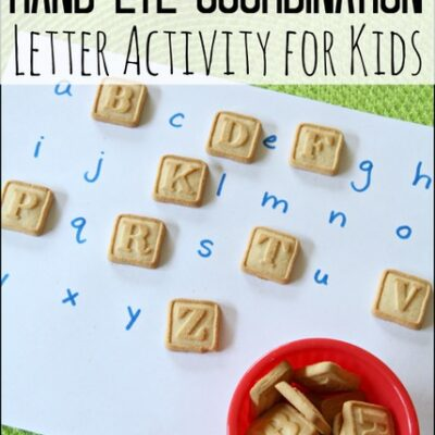 Hand-Eye Coordination Letter Activity for Kids