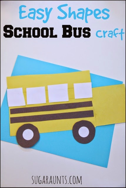 School bus craft and book is great for back to school prep for young kids.