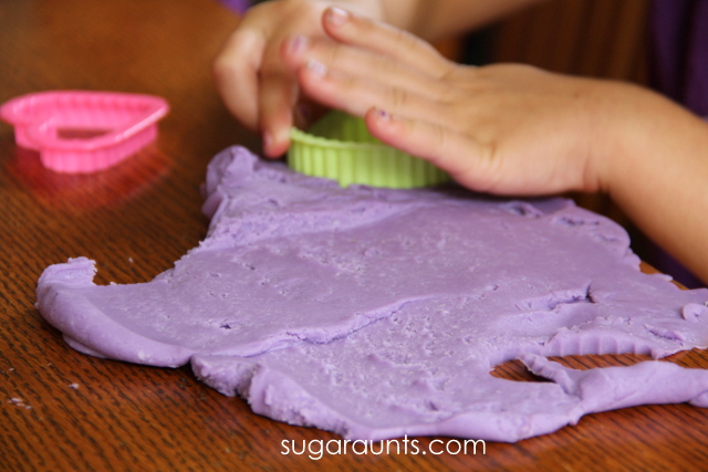 Purple crayon play dough