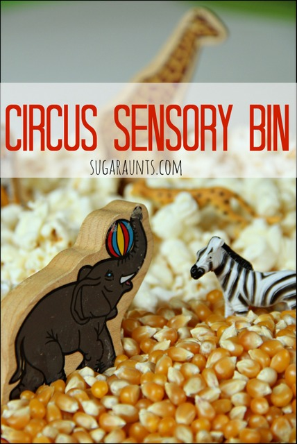 Creative and sensory play for kids with an easy circus theme.