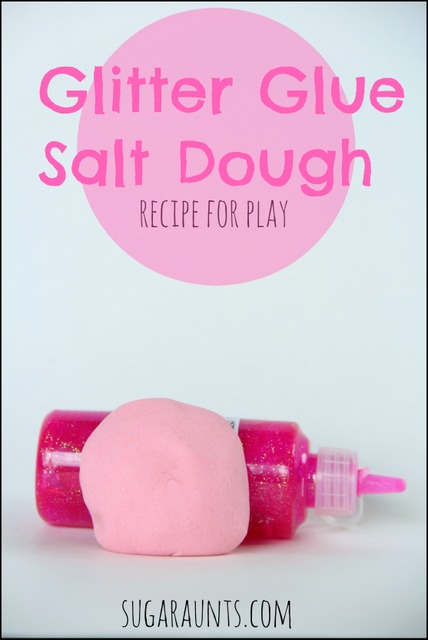 Make glittery dough using salt dough