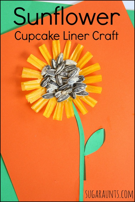 Use a cupcake liner to create a fall craft for kids.