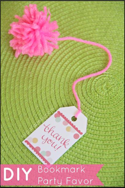 Princess Party bookmark favors DIY