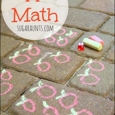 Apple Math Counting and Adding Activity