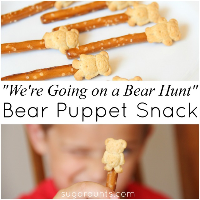 We're Going on a Bear Hunt snack activity