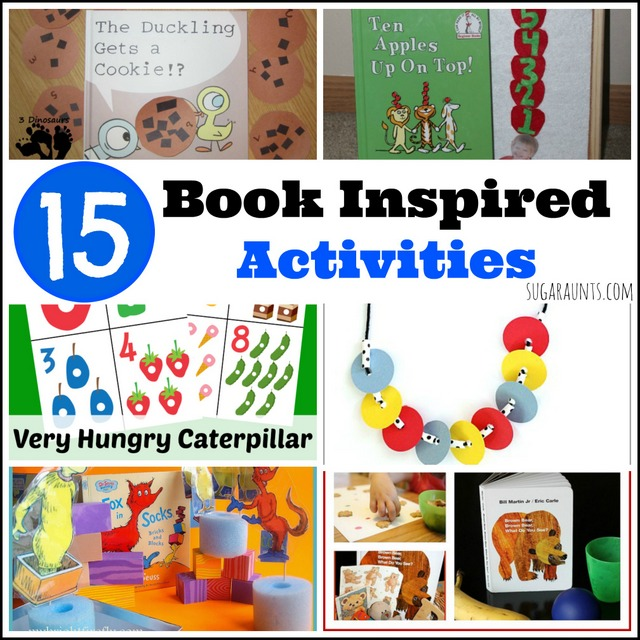 book inspired literacy crafts, activities, sensory bins, learning for preschool and toddlers.