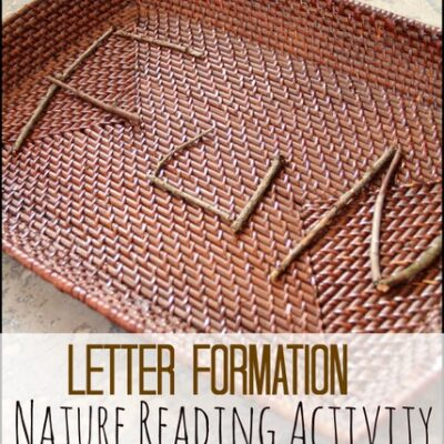 Decodable Reading with Nature Letter Formation Fun