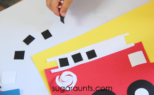 Fire truck craft for Preschool and Toddlers