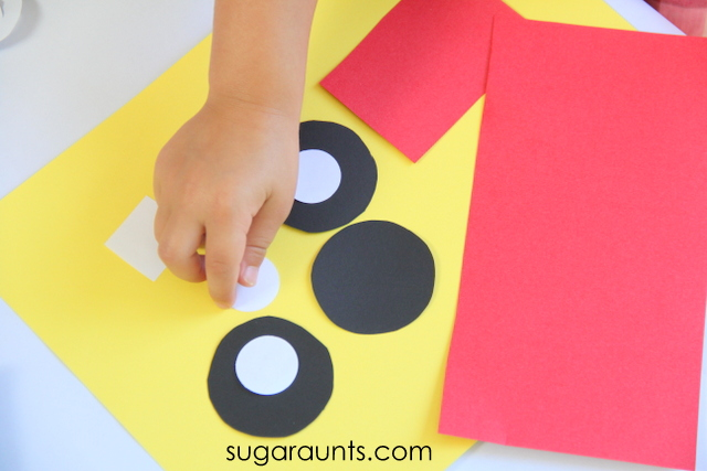 Fire Truck Craft Easy Shapes The Ot Toolbox