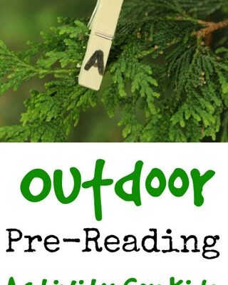 Outdoor Pre-Reading Activity for New Readers