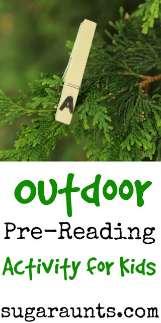 Outdoor Pre-Reading Activity for new readers from Sugar Aunts